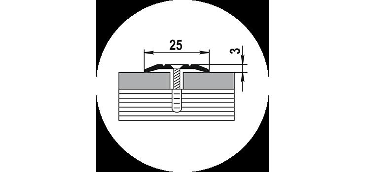 Порог ПС-1 25х3х0,9м
