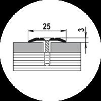 Порог ПС-1 25х3  0,9м