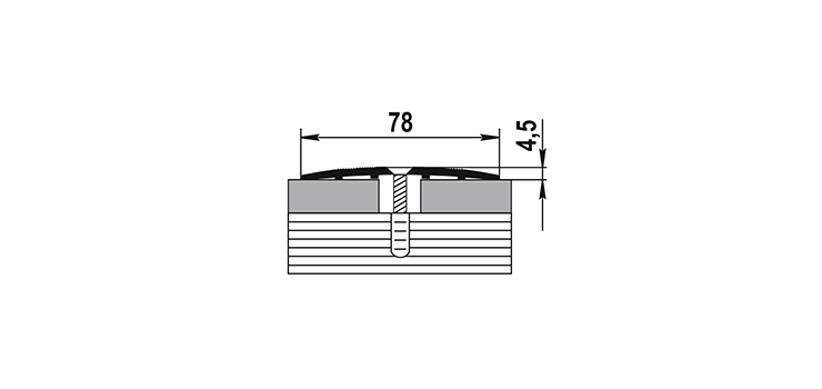 Порог ПС-18 78х4,5 1,35м